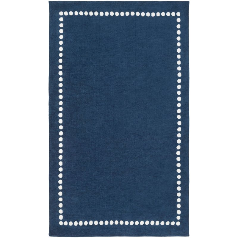 2 X 3 X Small Navy Blue And Cream Kids Area Rug Abigail Rc Willey Furniture Store