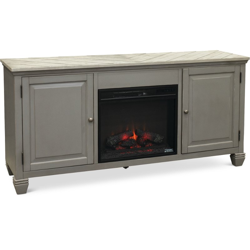 68 Inch Classic Modern Gray Fireplace Tv Stand Jordan Rc Willey