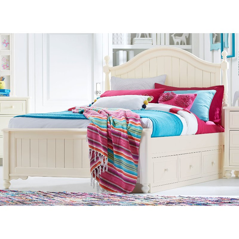 classic ivory white twin storage bed summerset rc willey furniture store. Black Bedroom Furniture Sets. Home Design Ideas