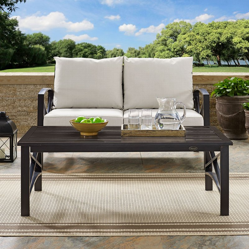 Oiled Bronze Outdoor Patio Coffee Table Kaplan Rc Willey