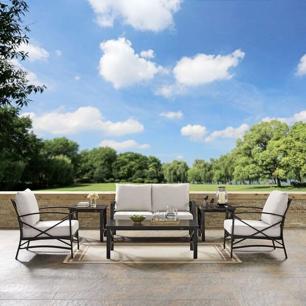 6 Piece Oatmeal Outdoor Patio Seating Set   Kaplan | RC Willey Furniture  Store