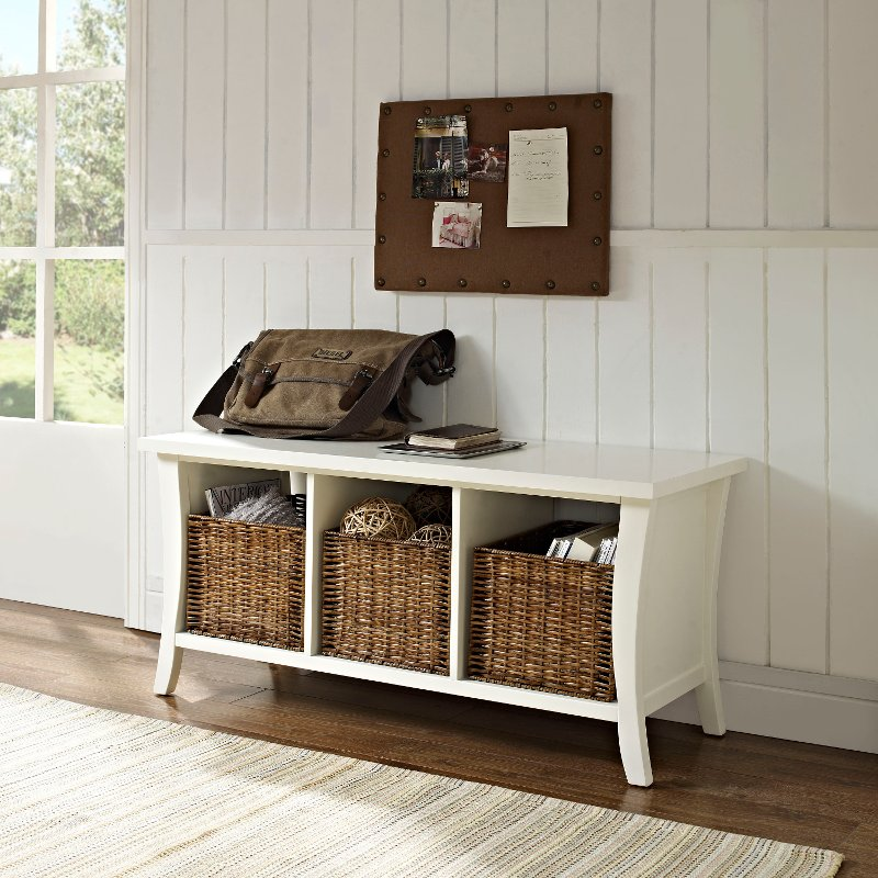 Super White Entryway Storage Bench Wallis Cjindustries Chair Design For Home Cjindustriesco