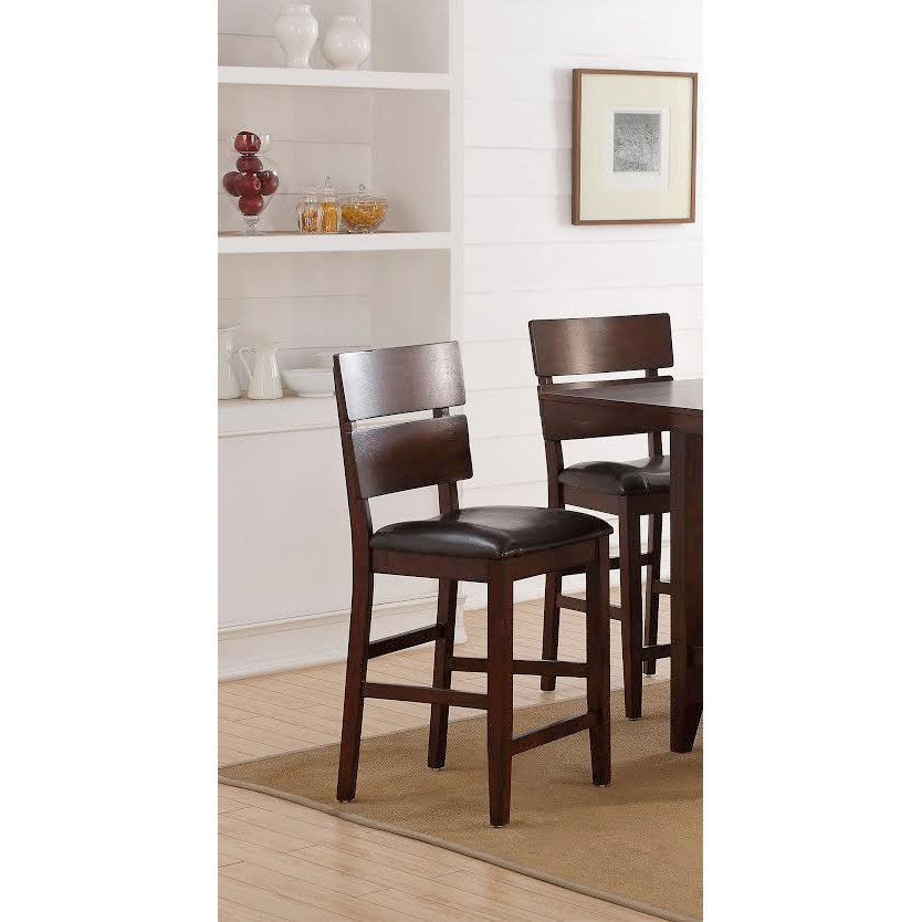 Dark Brown Counter Height Stool   Newcomb