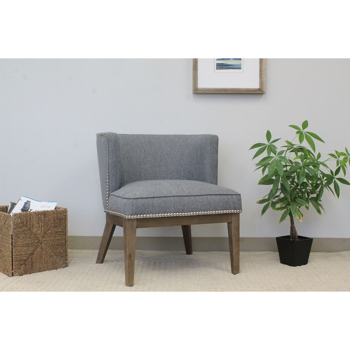 Beau Gray Oversized Accent Chair