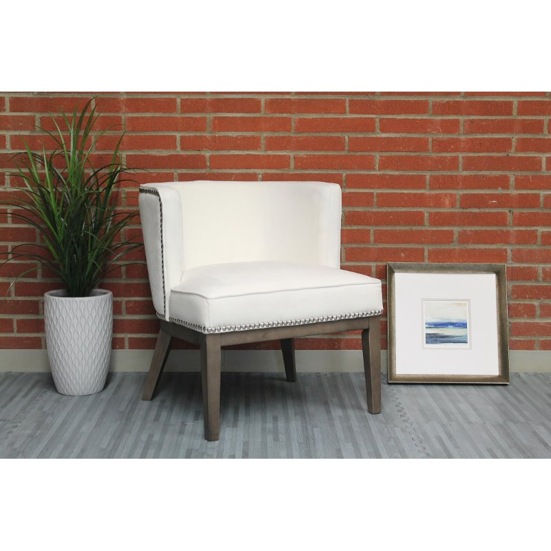 Genial White Oversized Accent Chair