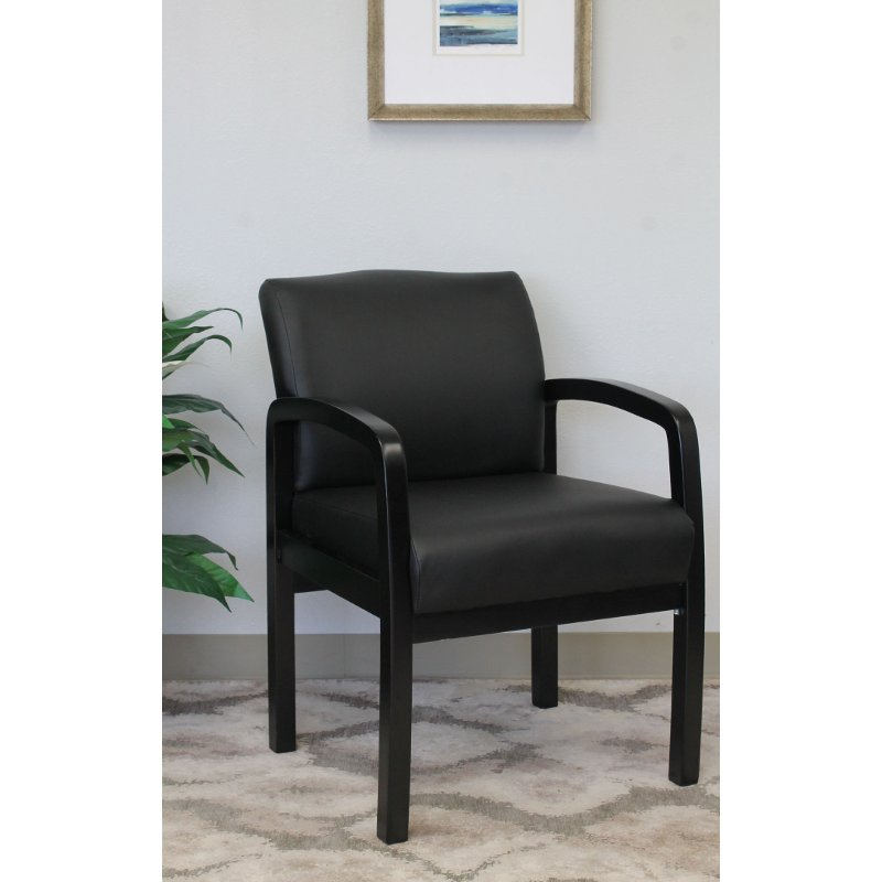 Black Office Guest Chair Rc Willey