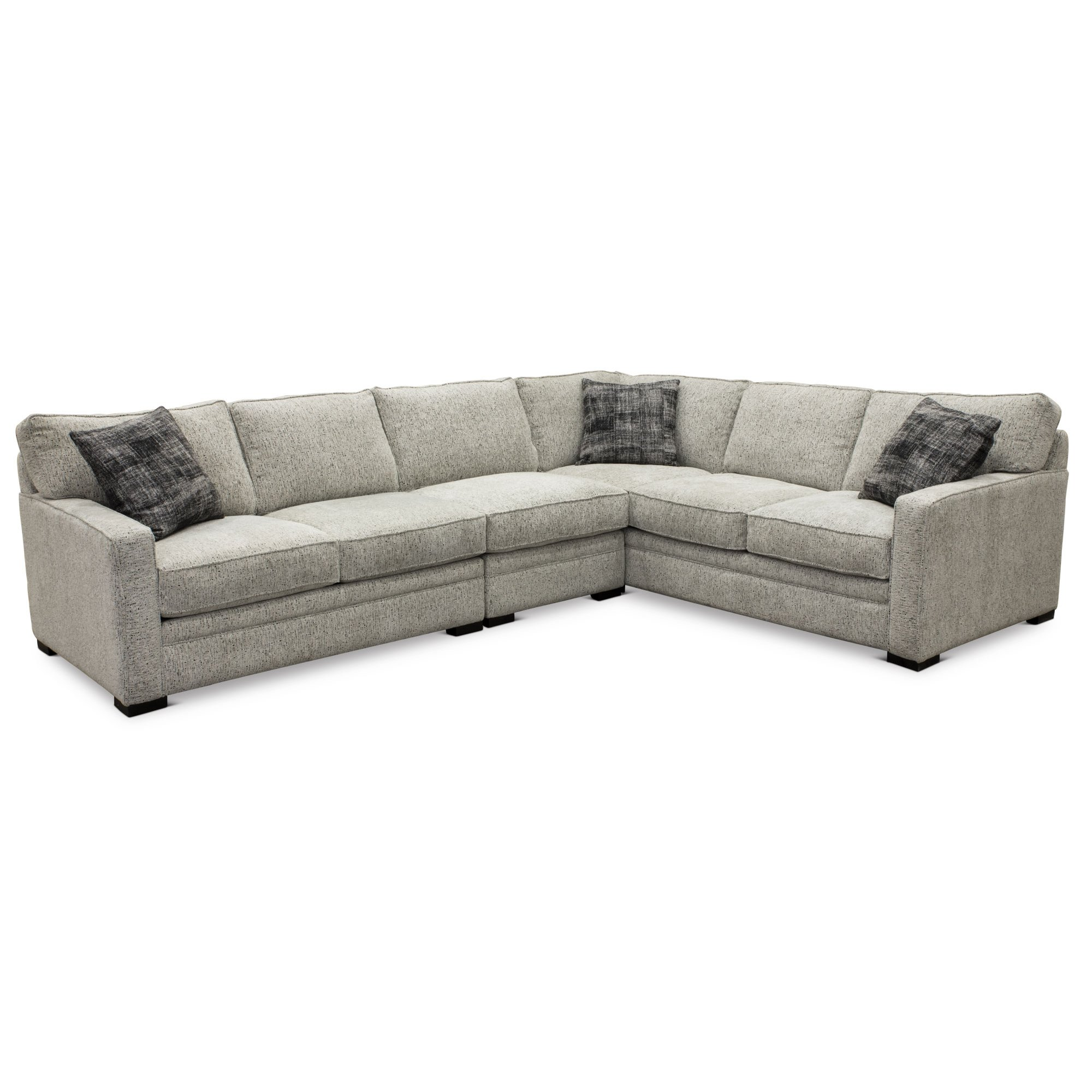 Contemporary Gray 3 Piece Sectional Sofa With Raf Juno