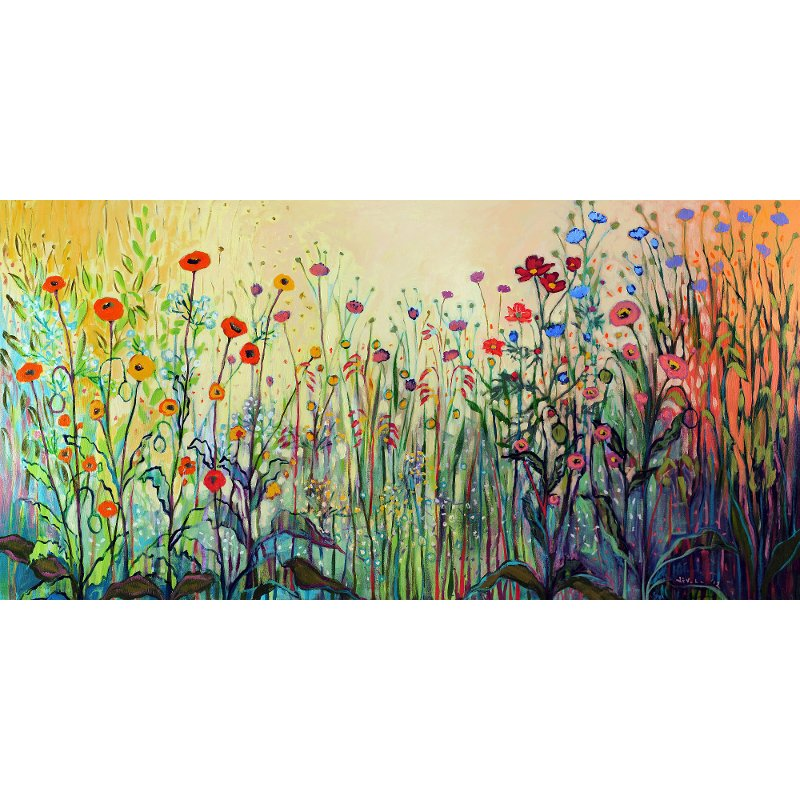 Floral Playful Patio Canvas Outdoor Indoor Wall Art Rc Willey