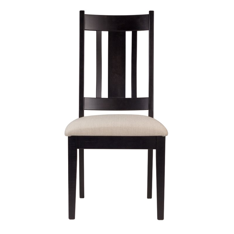 Cream And Black Upholstered Dining Room Chair