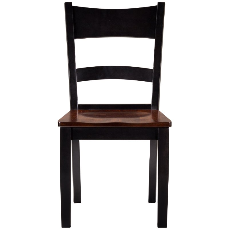 Pleasant Maple Two Tone Ladder Back Dining Room Chair Saber Beutiful Home Inspiration Cosmmahrainfo