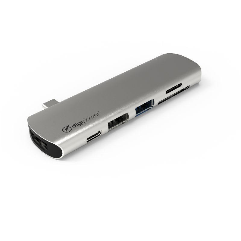 Rc Willey Salt Lake: DigiPower 7-Port Direct Connect USB-C Hub