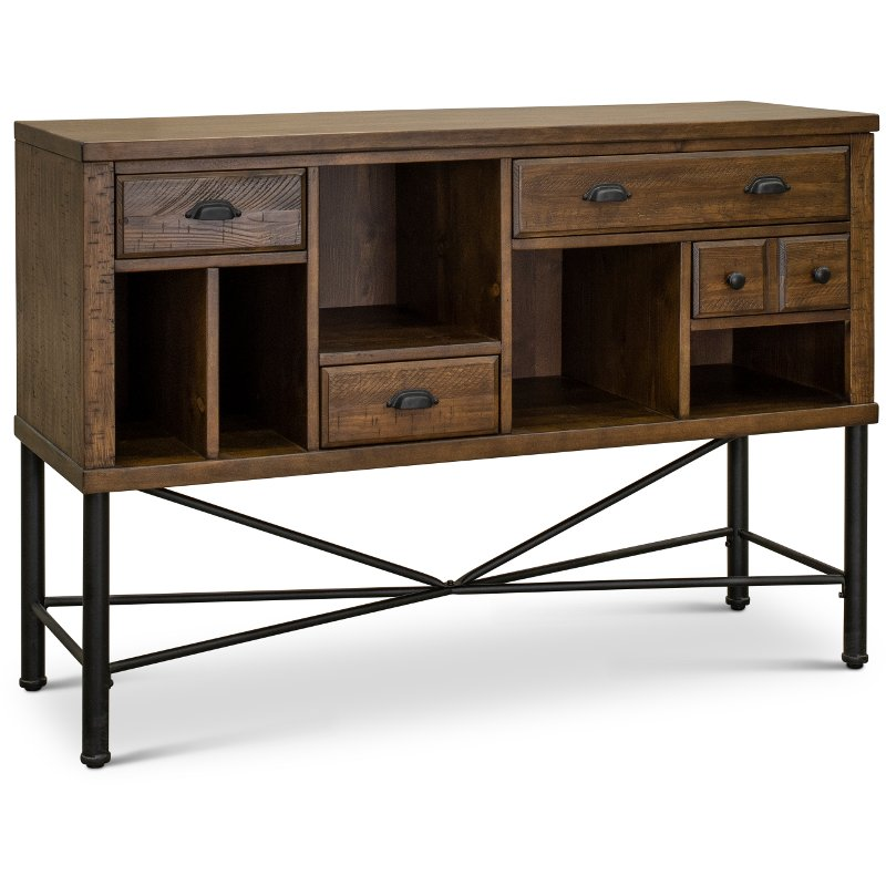 Industrial Pine And Metal Sideboard Flatiron Rc Willey Furniture