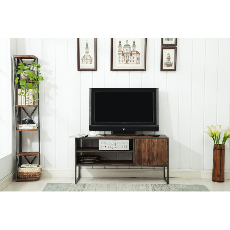 Natural Brown Wooden 50 Inch Tv Stand Brixton Rc Willey