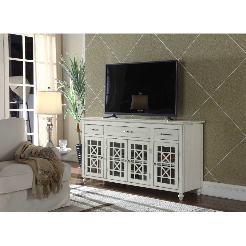 White Contemporary 60 Inch Tv Stand Copeland Rc Willey Furniture