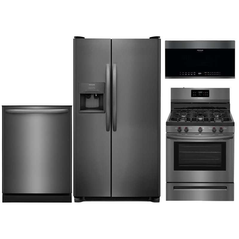 Frigidaire Kitchen Appliance Package With Gas Range Black