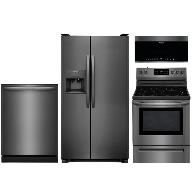 frigidaire 4 piece kitchen appliance package with electric