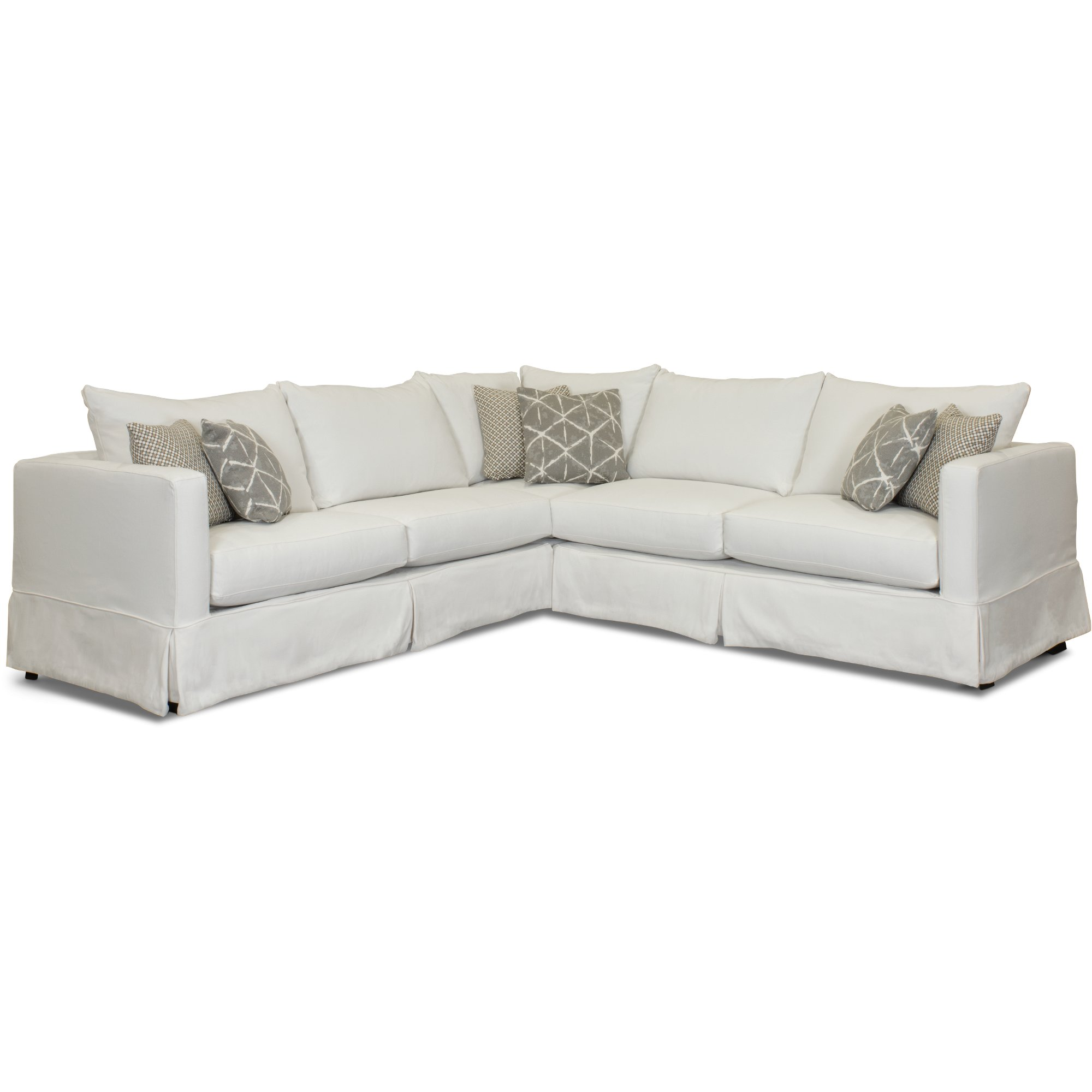 Casual Contemporary White 3 Piece Sectional Sofa   Barrage | RC Willey  Furniture Store