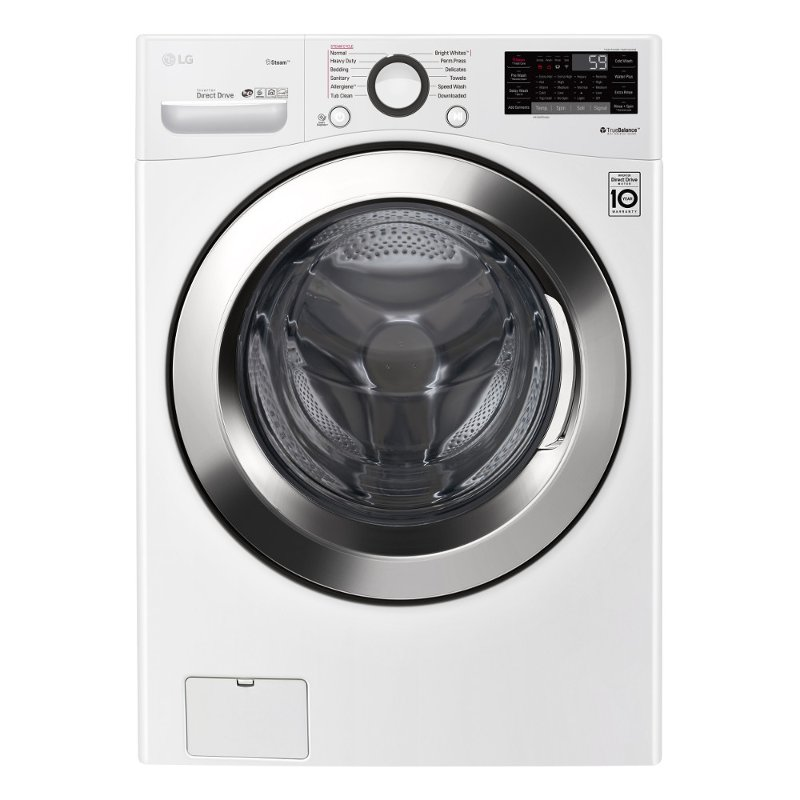 Lg Front Load Washer With 6motion Technology 4 5 Cu Ft White Rc Willey Furniture Store