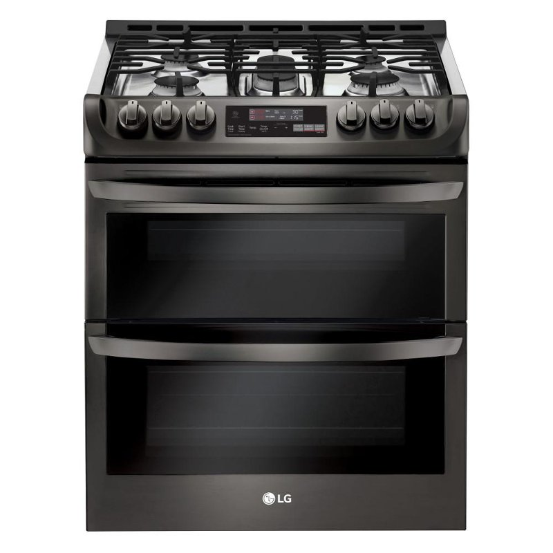 Rc Willey Electronics: LG Gas Range - 6.9 Cu. Ft. Black Stainless Steel