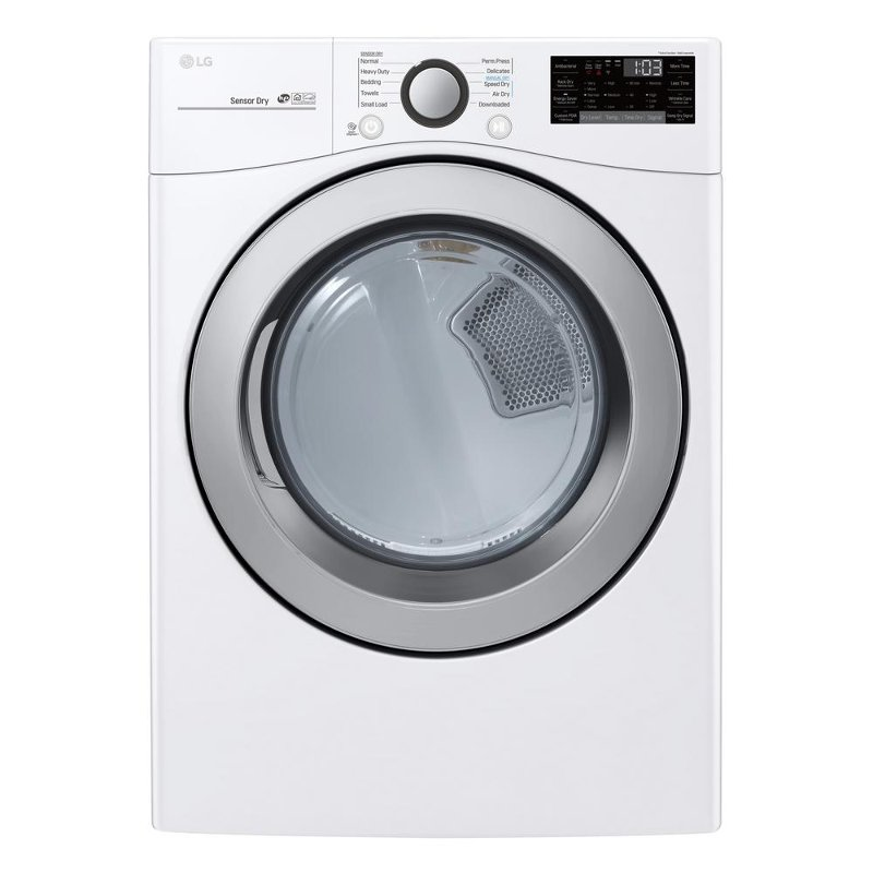 LG Electric Dryer with SmartDiagnosis - 7 4 cu  ft  White