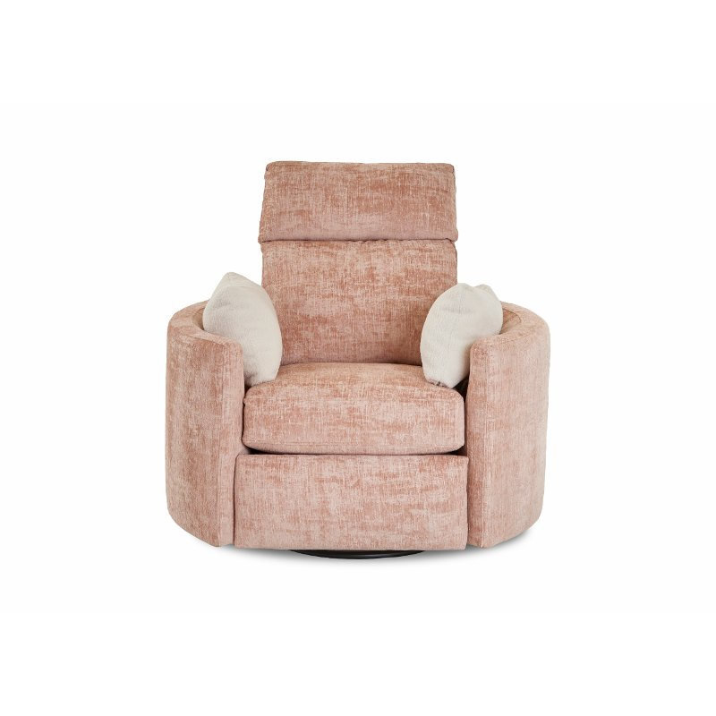 Rosequartz Pink Swivel Power Recliner Cosmo Rc Willey Furniture