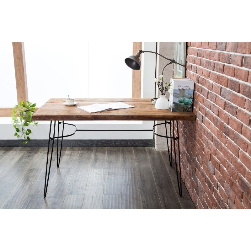 Bon Rustic Reclaimed Wood Writing Desk And Dining Table   Brixton