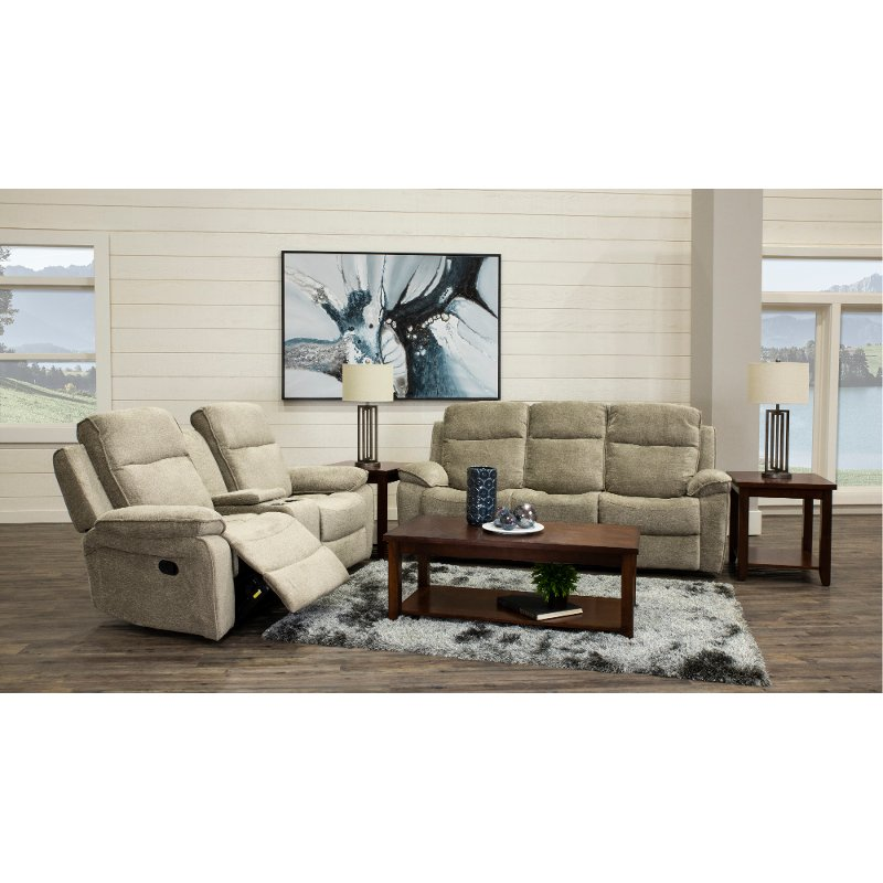 Classic rich brown 3 piece living room table set rc - Three piece living room table set ...