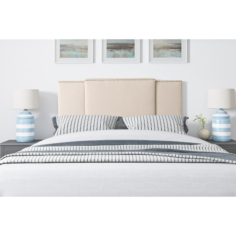 Cream Expandable Full Size Queen King Size Headboard Rc Willey