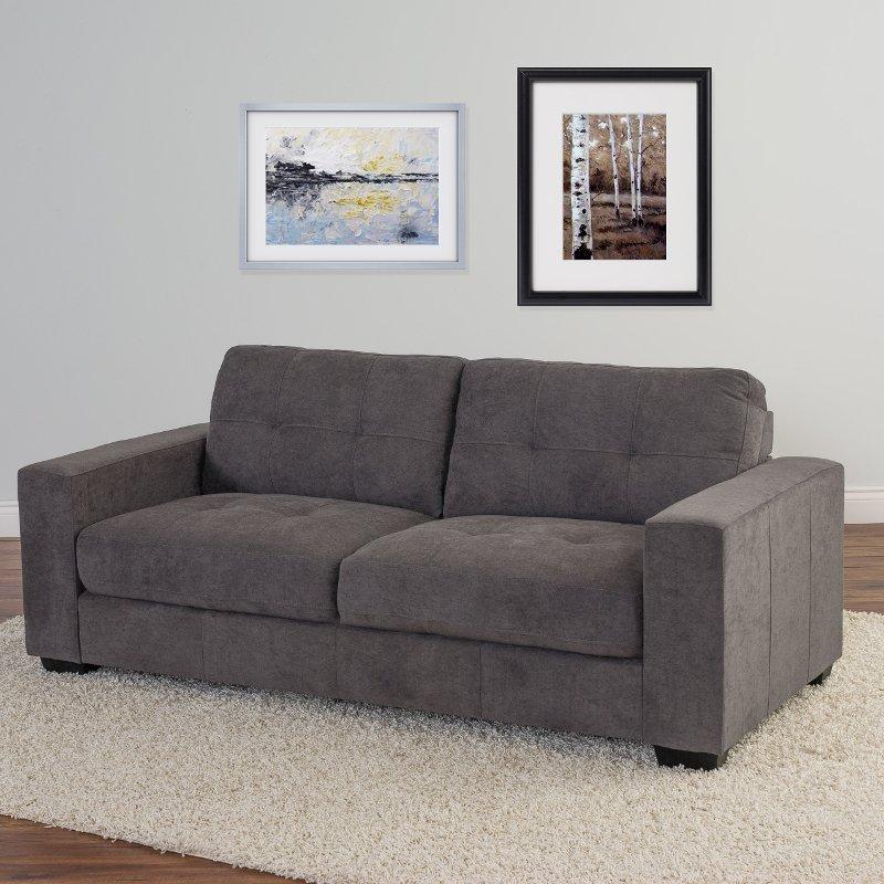 Gray Chenille Fabric Sofa - Club