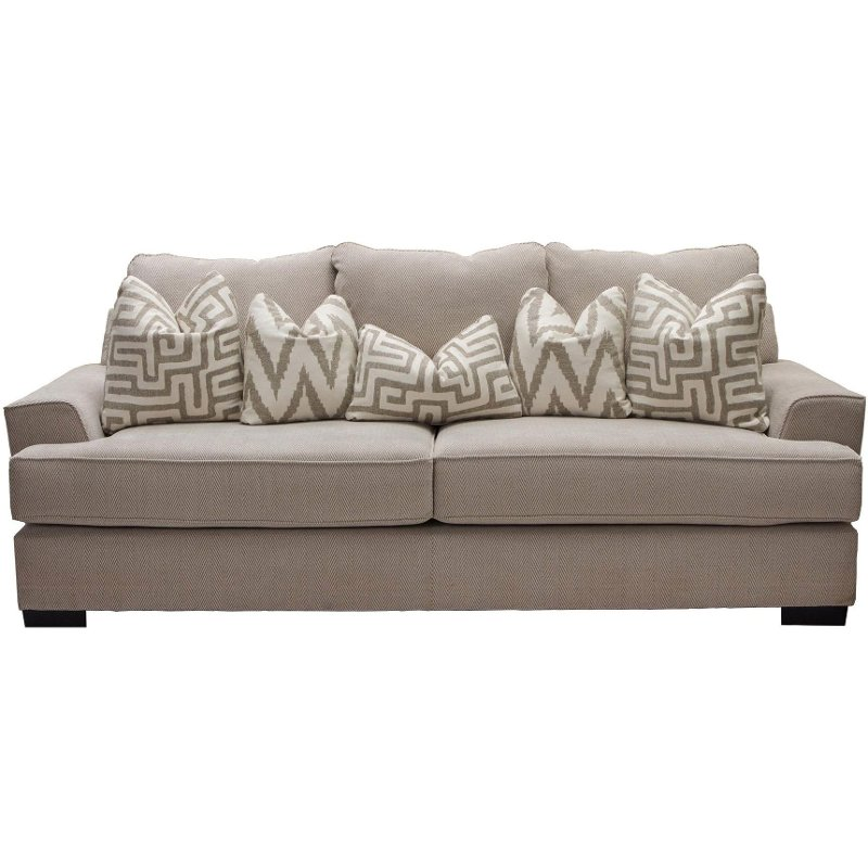 Rc Willey Orem: Casual Contemporary Oatmeal Sofa Bed - Renegade