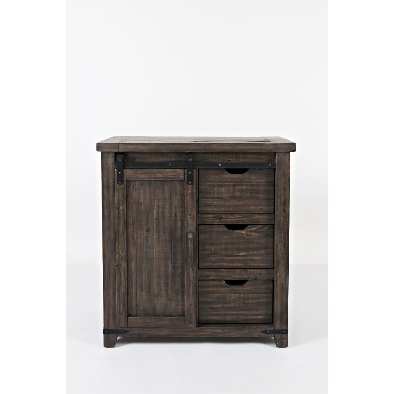 Dark Brown Barn Door Accent Cabinet Madison County Rc