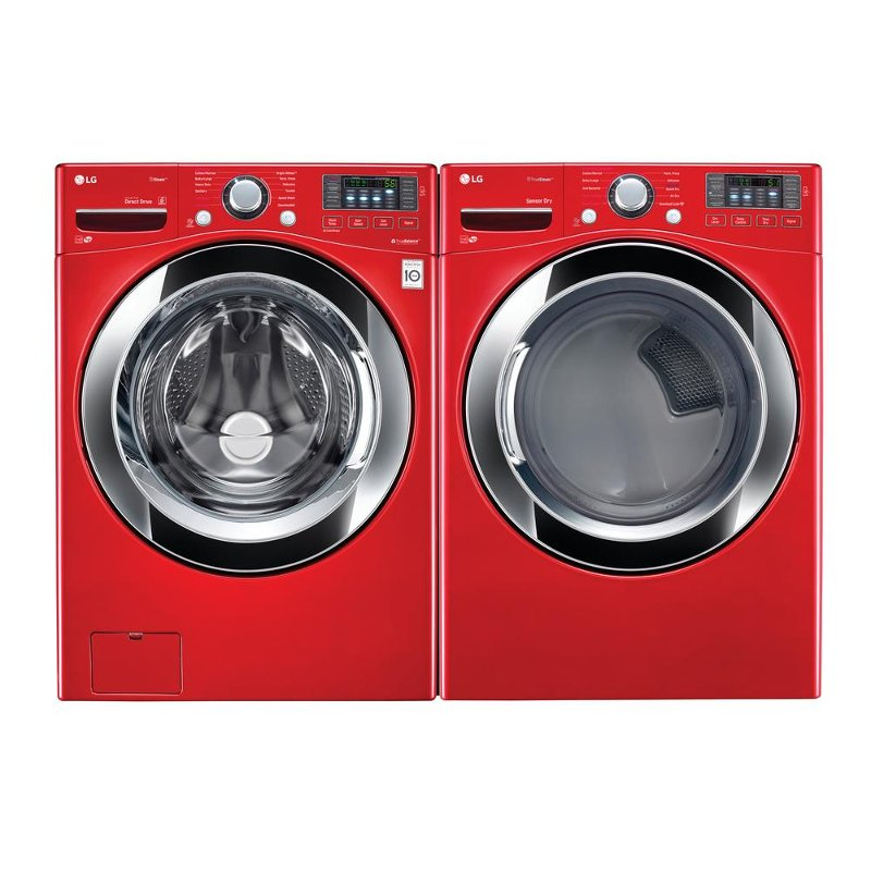 Rc Willey Dryer: LG Washer And Gas Dryer Pair - Red