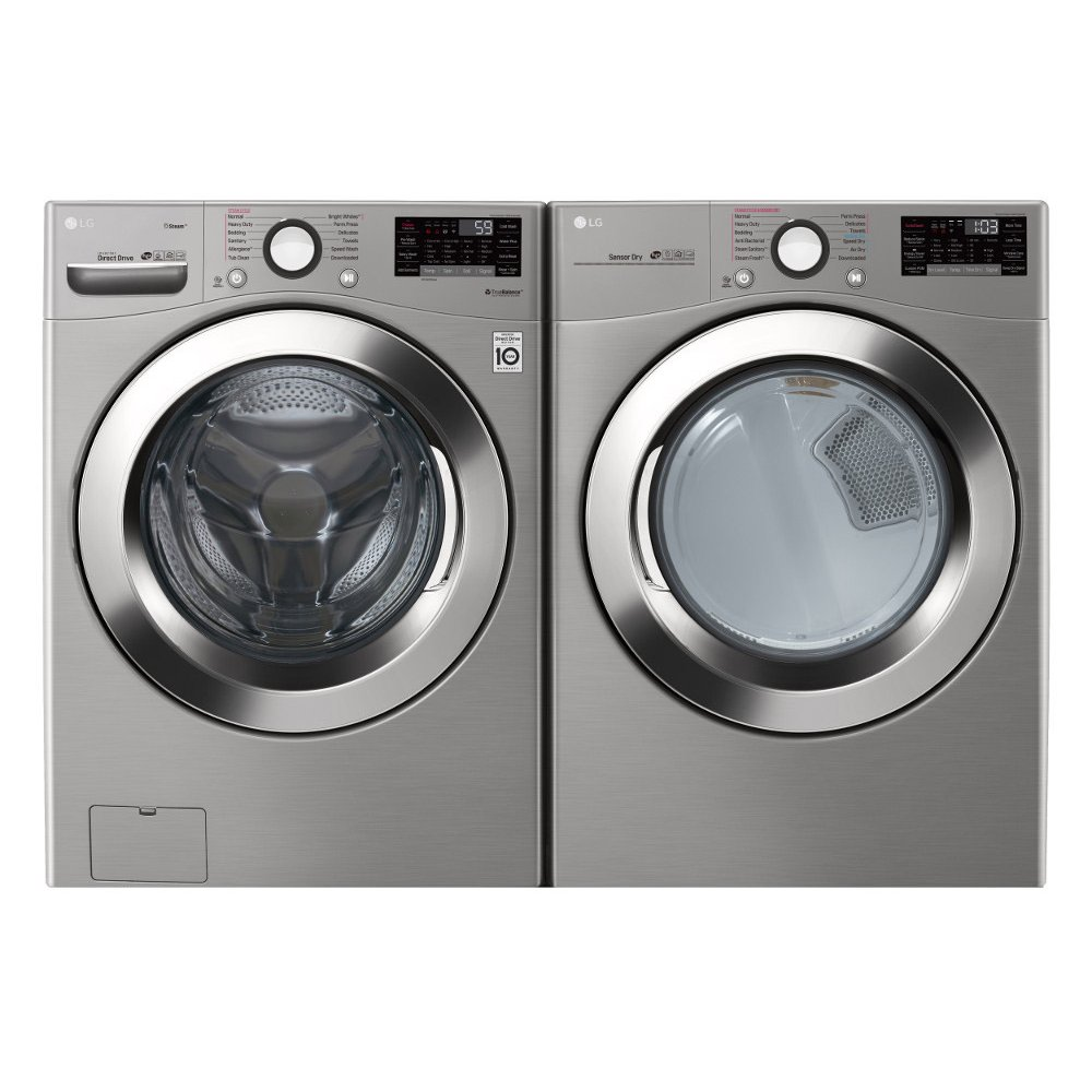LG Ultra Large Capacity Front Load Washer and Dryer Set - Graphite Steel  Electric