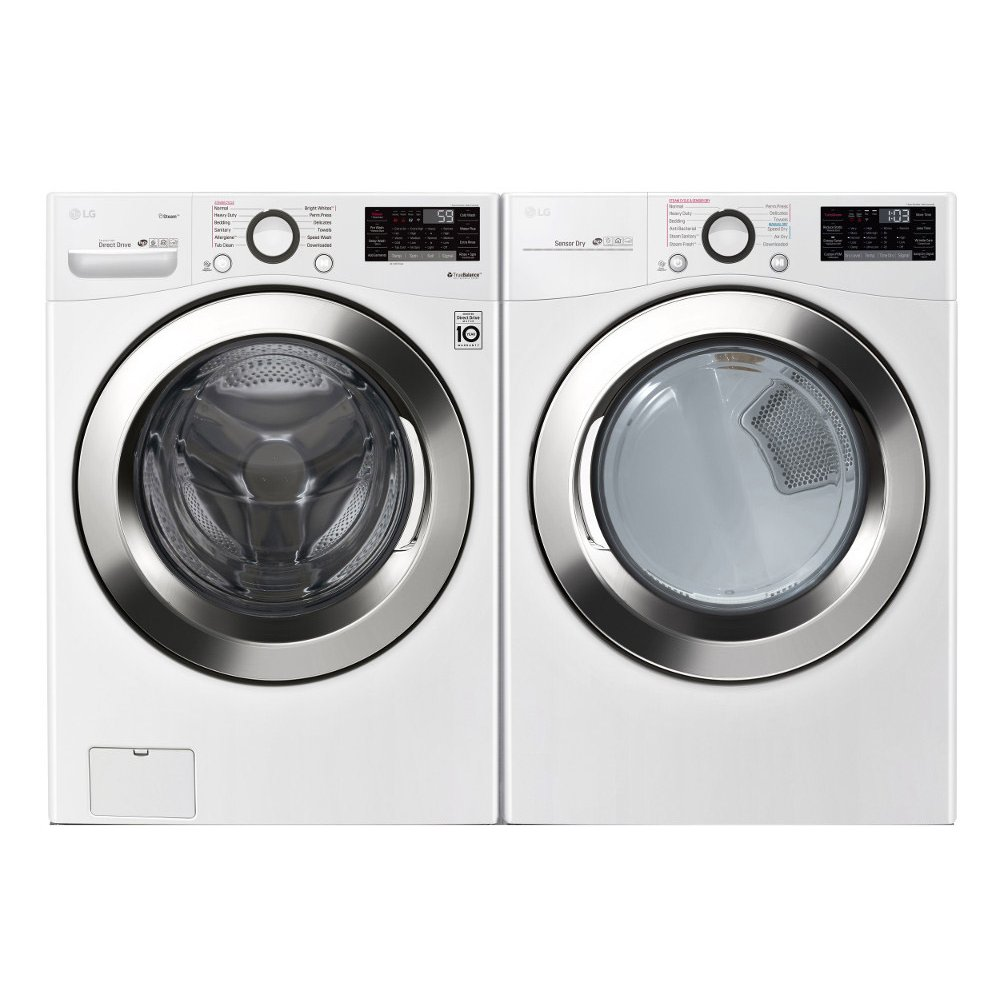 Lg Front Load Washer And Dryer Set White Gas Rc Willey