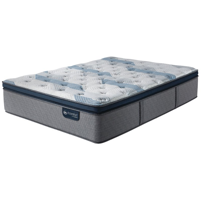 Serta 300 Plush Pillow Top Full Size Mattress Blue Fusion Rc