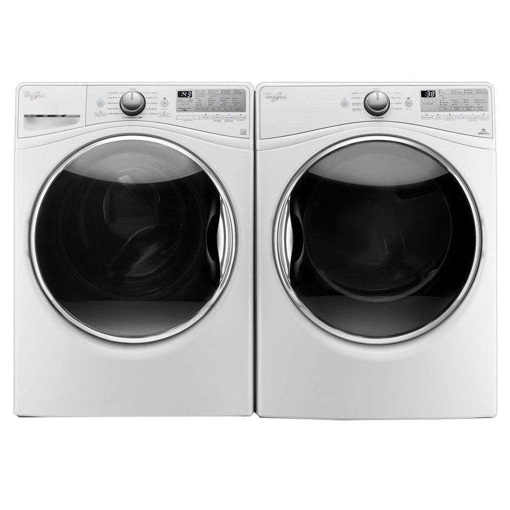 black washer and dryer. Whirlpool Front Load Washer And Dryer Set - White Electric   RC Willey Furniture Store Black 0
