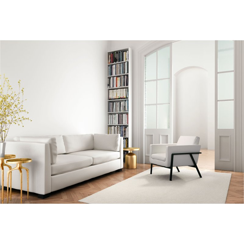 Magnificent Modern Contemporary White Lounge Chair Homestead Cjindustries Chair Design For Home Cjindustriesco