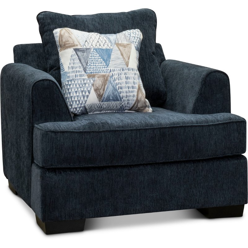 Contemporary Baltic Blue Chair   Lansing