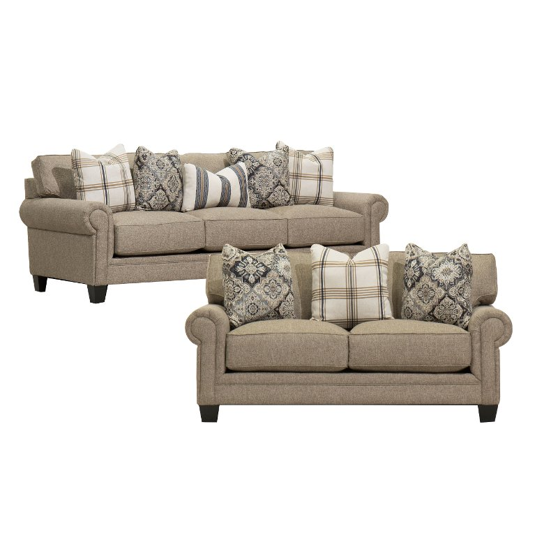 Add Charm Living Room Sets Classic Granite Beige 2 Piece Living Room Set - Belfast | RC Willey  Furniture Store
