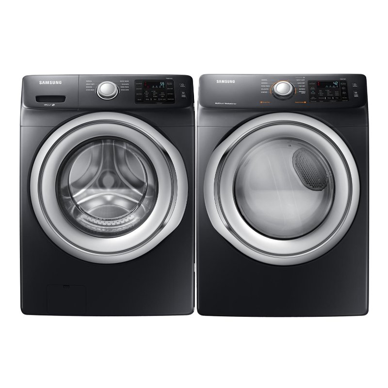Samsung Front Load Washer And Gas Dryer Black Stainless