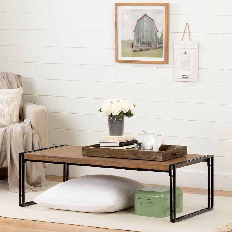 11520 Rustic Bamboo Coffee Table Gimetri
