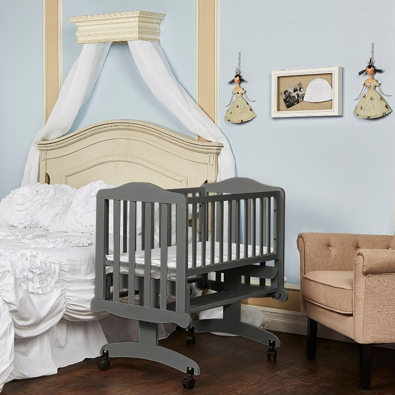 Steel Gray Lullaby Cradle Glider Dream On Me Rc Willey Furniture
