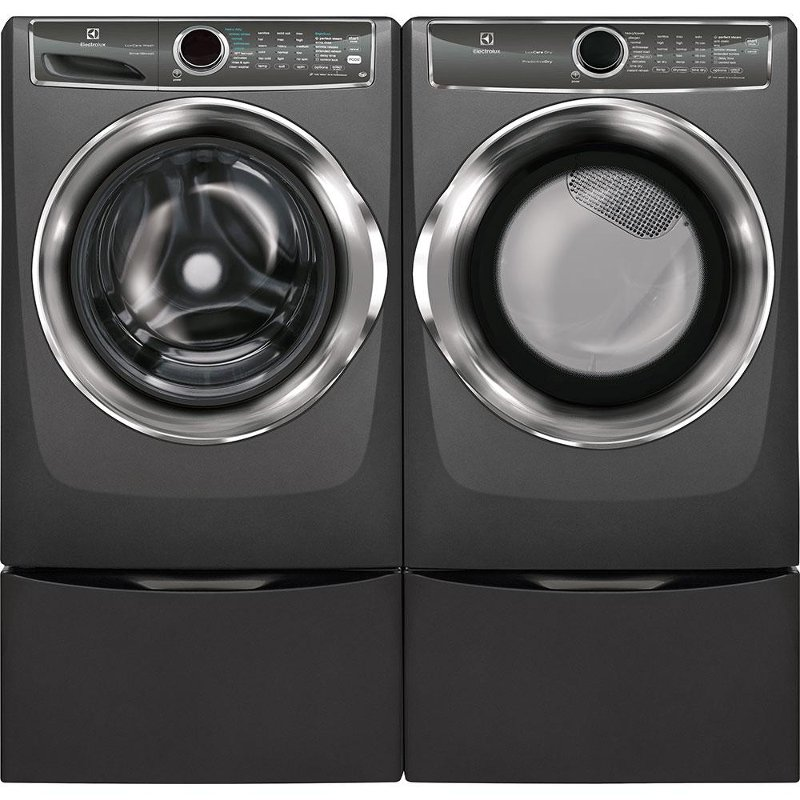 Electrolux Front Load Washer And Dryer Set Titanium Gas