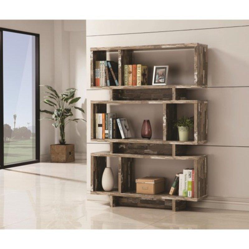 Distressed Brown Rustic Bookshelf