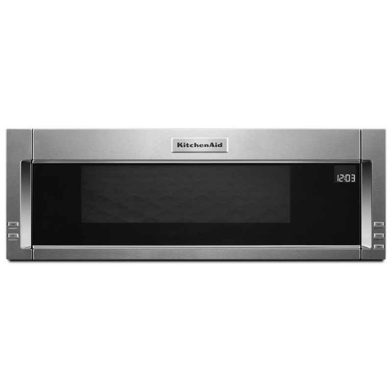 Kitchenaid Over The Range Low Profile Microwave 1 Cu Ft Stainless Steel Rc Willey Furniture