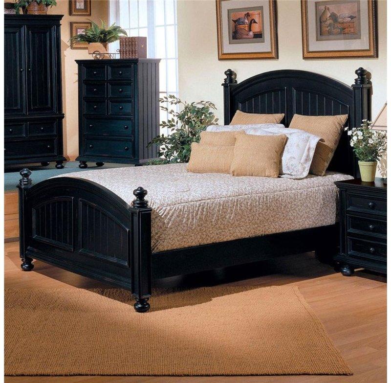 Merveilleux Classic Black Queen Bed   Cape Cod