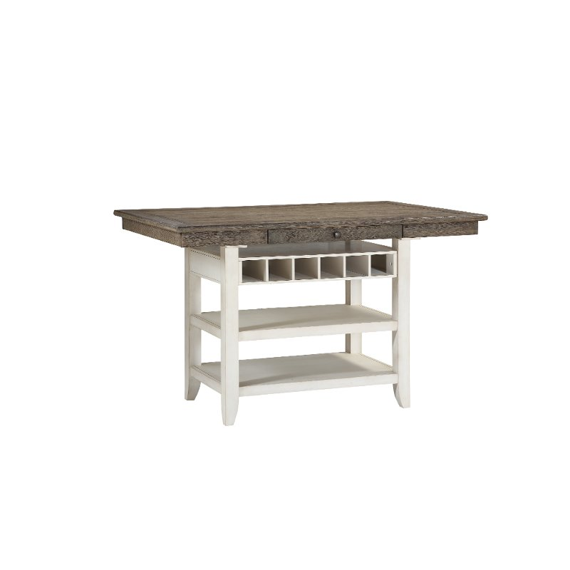 Gray And White Counter Height Dining Table Grace