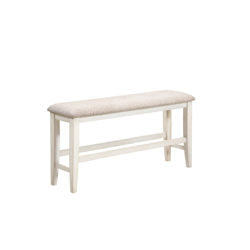 Gray And White Counter Height Dining Bench Grace