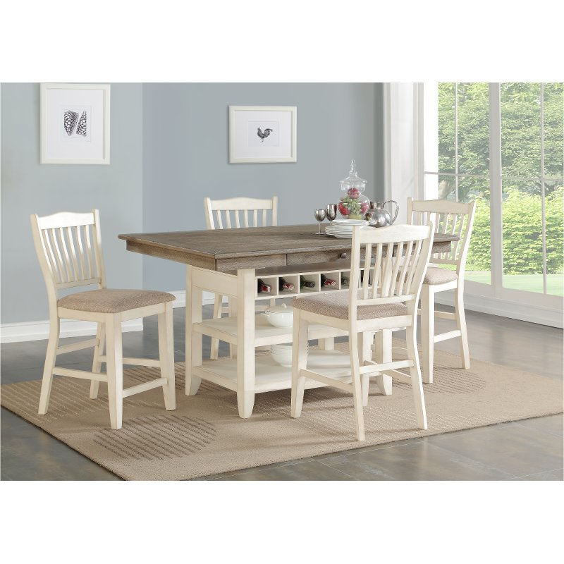 Counter Height Kitchen Table Sets Fascinating Gray And White Counter Height 12 Piece Dining Set Grace 149 5