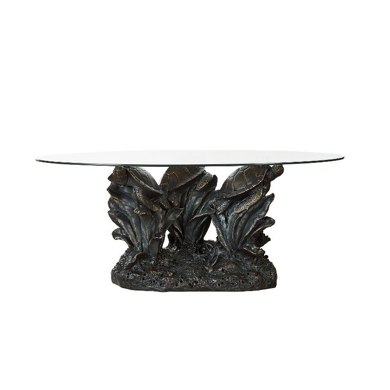 Rustic Turtle Glass Top Coffee Table Rc Willey Furniture
